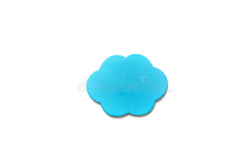Nuvola blu isolata fotografia stock