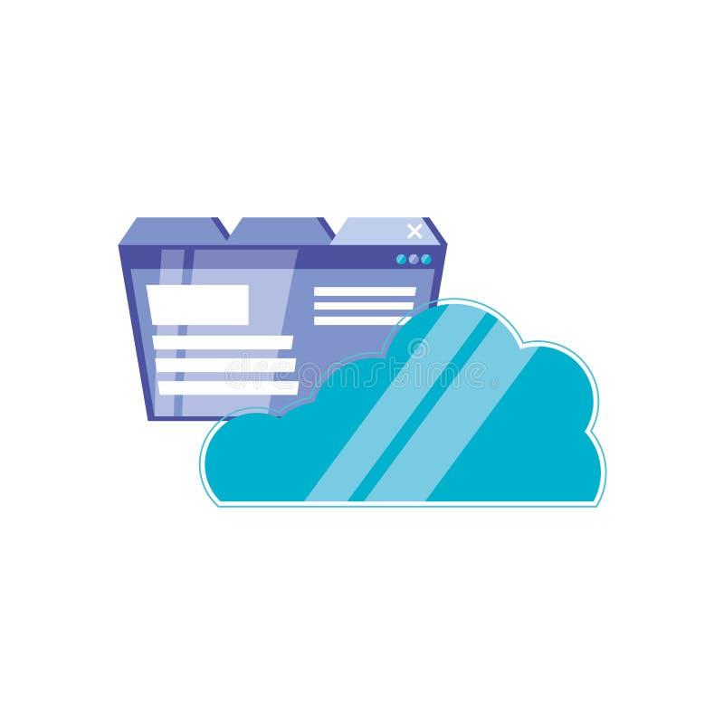 Nuvola che computa con la pagina Web royalty illustrazione gratis