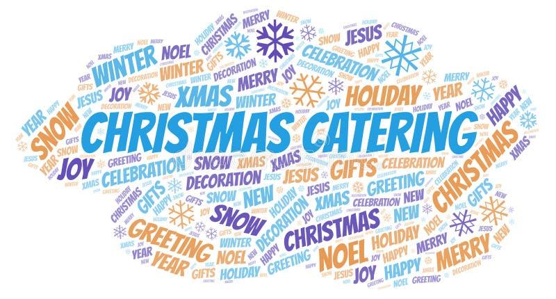 Nuvola d'approvvigionamento di parola di Natale illustrazione di stock