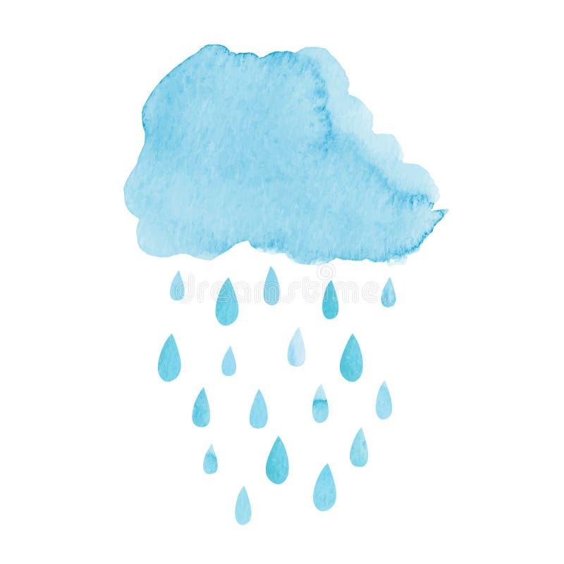 Nuvola dell'acquerello illustrazione di stock