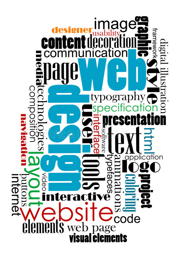 Nuvola dell'etichetta per progettazione di Internet e di web illustrazione vettoriale