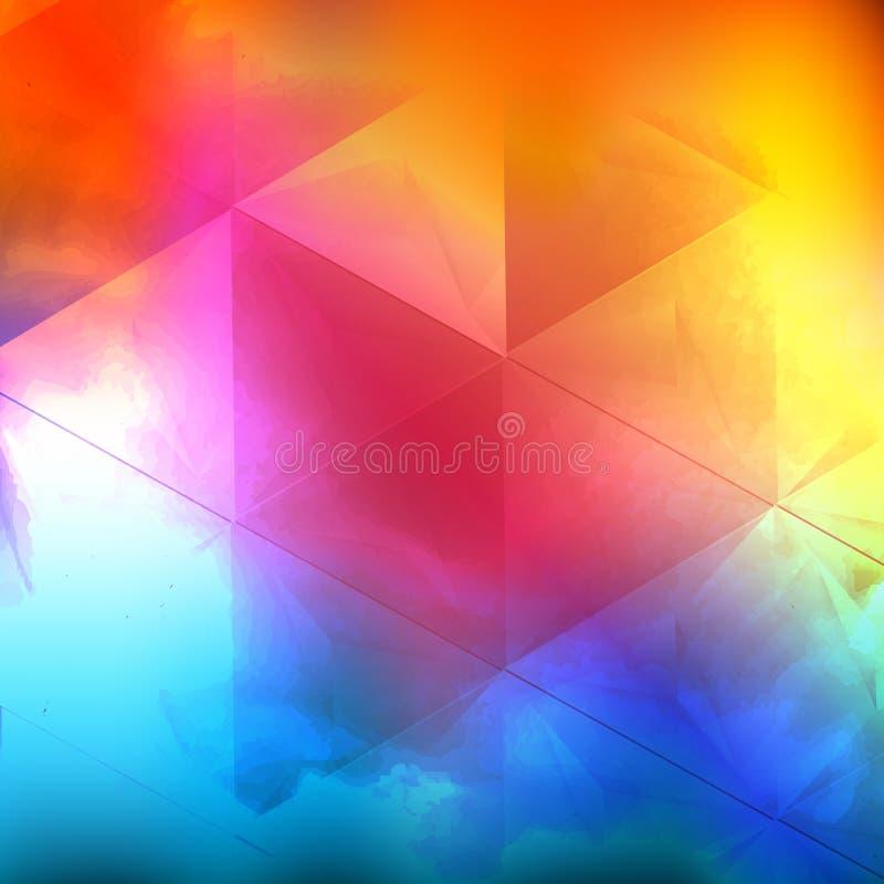Nuvola di colore di acqua di vettore royalty illustrazione gratis