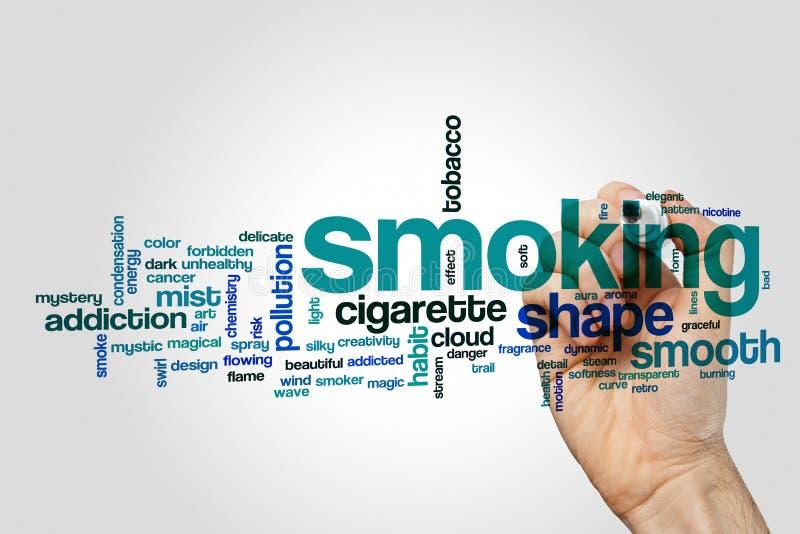 Nuvola di fumo di parola fotografia stock