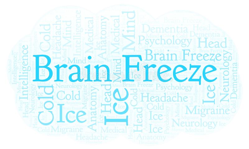 Nuvola di parola di Brain Freeze illustrazione vettoriale