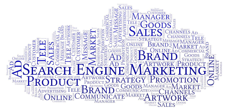 Nuvola di parola con posizionamento del testo illustrazione di stock