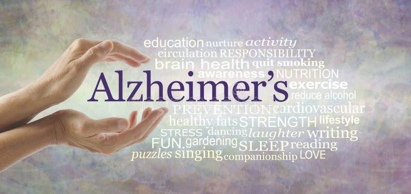 Nuvola di parola di consapevolezza della campagna di Alzheimer illustrazione vettoriale