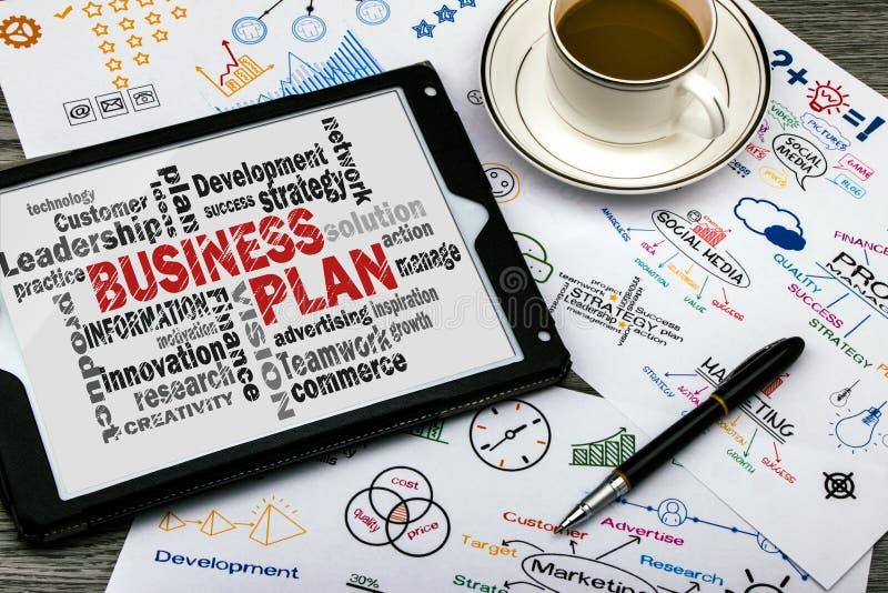 Nuvola di parola del business plan illustrazione di stock