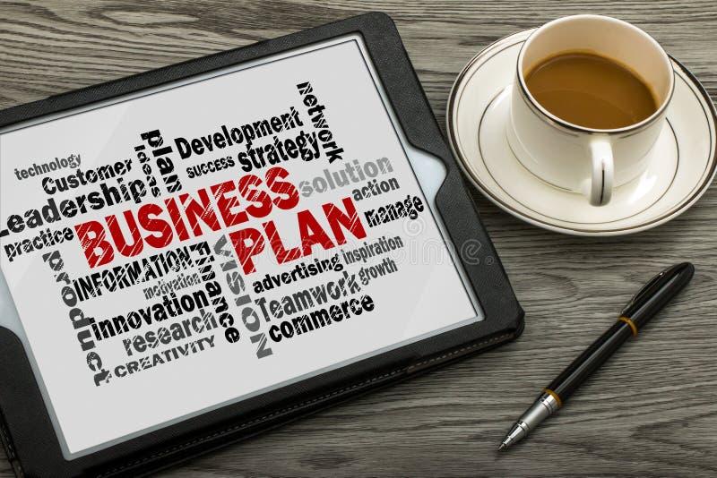 Nuvola di parola del business plan fotografia stock libera da diritti