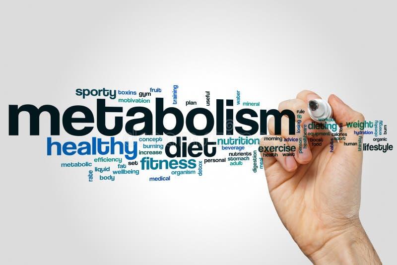 Nuvola di parola del metabolismo immagini stock