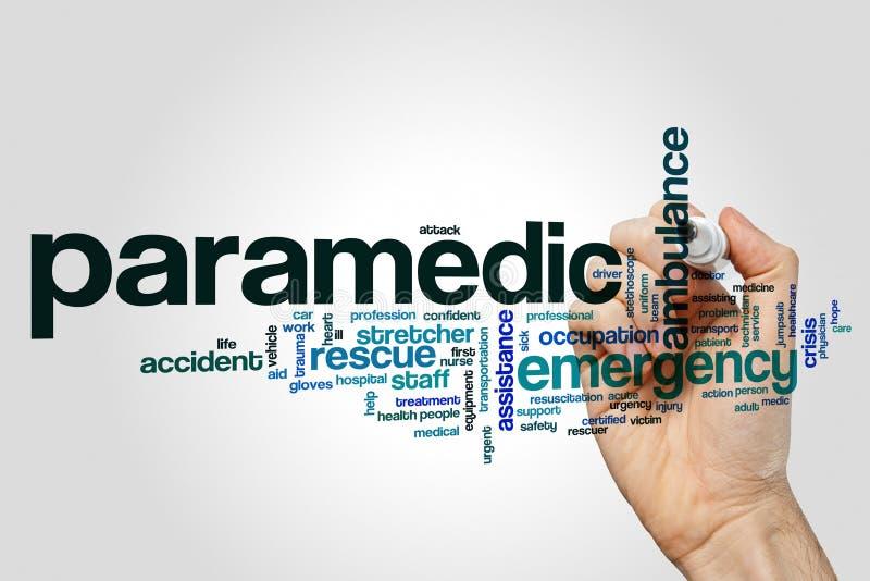 Nuvola di parola del paramedico fotografia stock