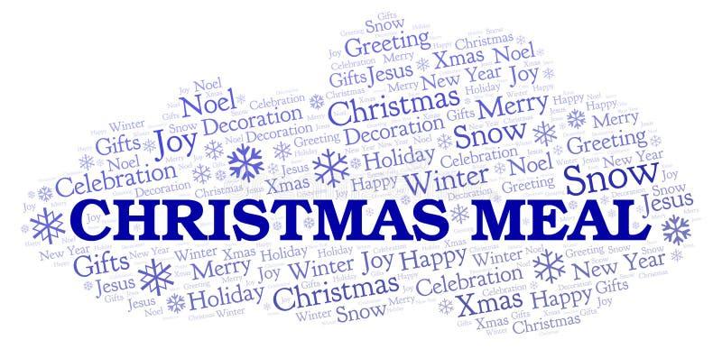 Nuvola di parola del pasto di Natale royalty illustrazione gratis