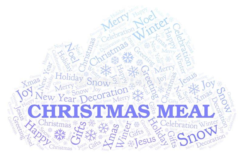 Nuvola di parola del pasto di Natale illustrazione di stock