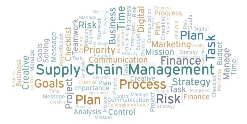 Nuvola di parola del supply chain management, fatta con testo soltanto illustrazione vettoriale