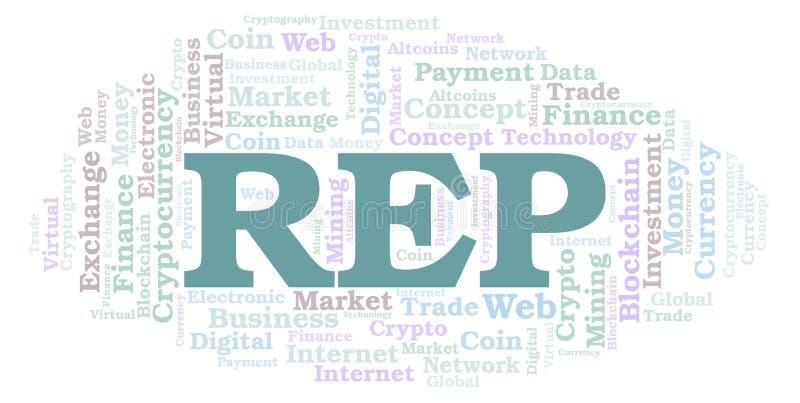 Nuvola di parola della moneta di cryptocurrency delle augure o del rappresentante royalty illustrazione gratis