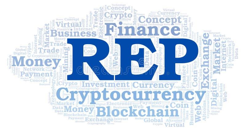 Nuvola di parola della moneta di cryptocurrency delle augure o del rappresentante illustrazione vettoriale