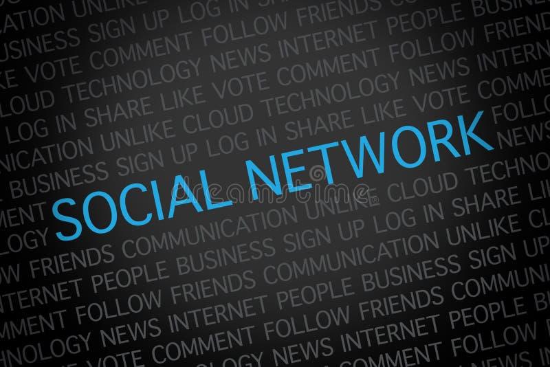 Nuvola di parola della rete sociale illustrazione di stock