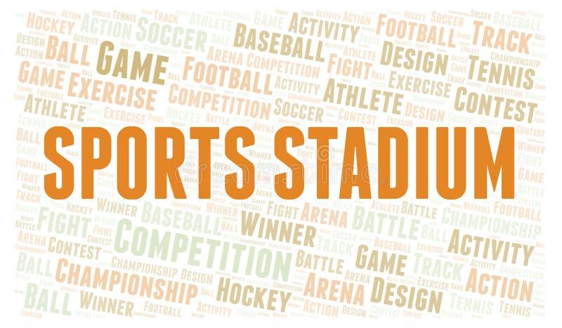 Nuvola di parola dello stadio di sport illustrazione vettoriale