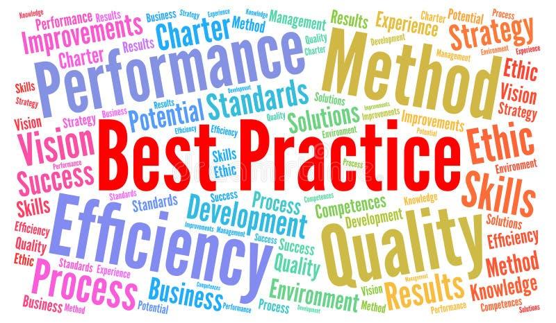 Nuvola di parola di best practice illustrazione vettoriale