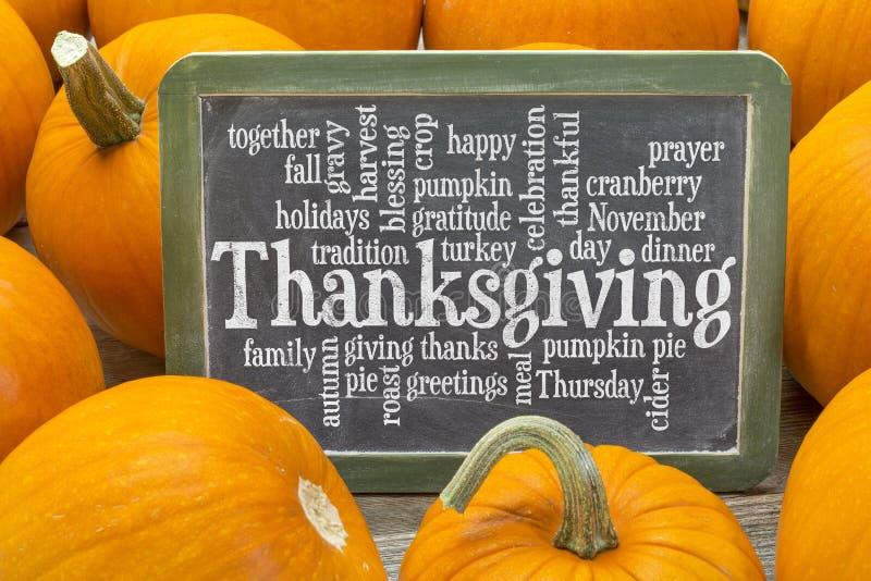 Nuvola di parola di celebrazione di ringraziamento fotografia stock