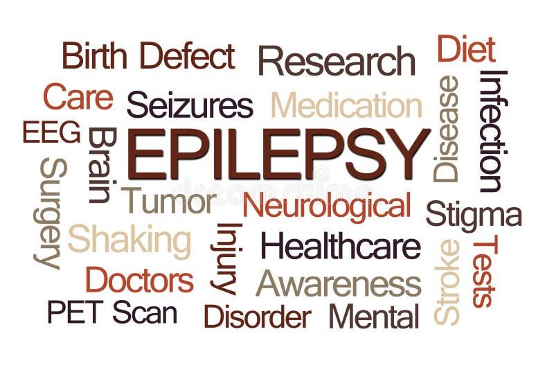 Nuvola di parola di epilessia fotografia stock