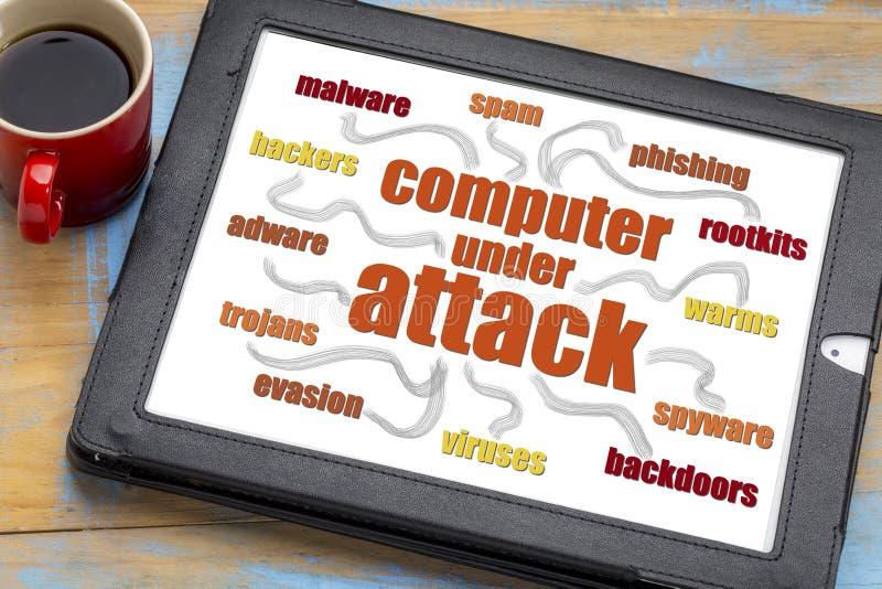 Nuvola di parola di sicurezza della rete di computer fotografia stock