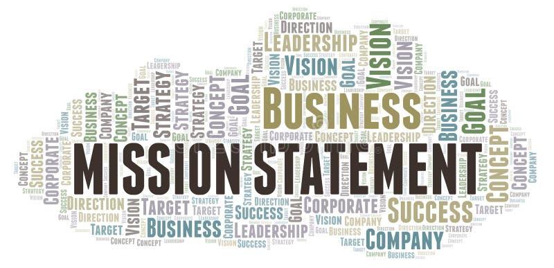 Nuvola di parola di dichiarazione di missione royalty illustrazione gratis