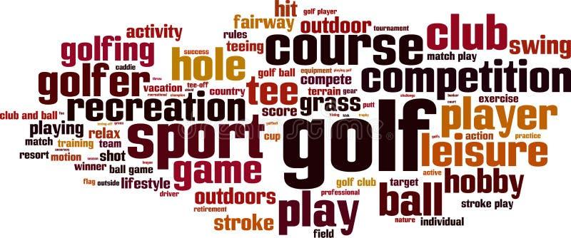 Nuvola di parola di golf illustrazione vettoriale