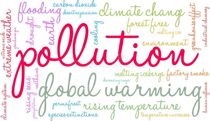 Nuvola di parola di inquinamento illustrazione di stock