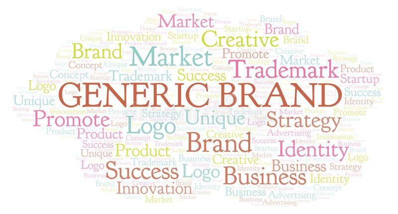 Nuvola di parola di marca generica illustrazione vettoriale