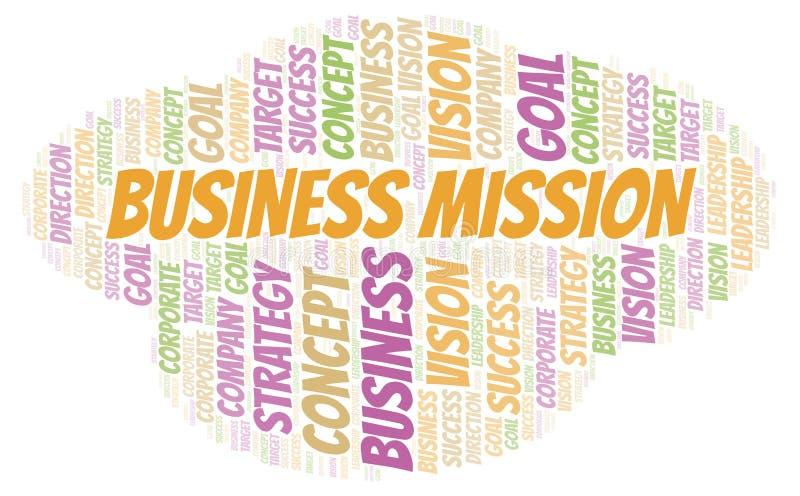 Nuvola di parola di missione di affari illustrazione vettoriale
