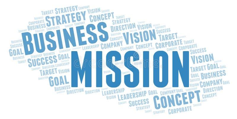 Nuvola di parola di missione royalty illustrazione gratis