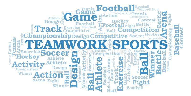 Nuvola di parola di sport di lavoro di squadra royalty illustrazione gratis