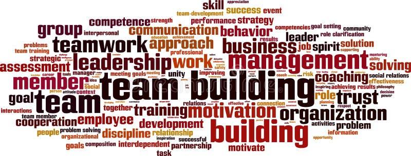 Nuvola di parola di team-building illustrazione di stock