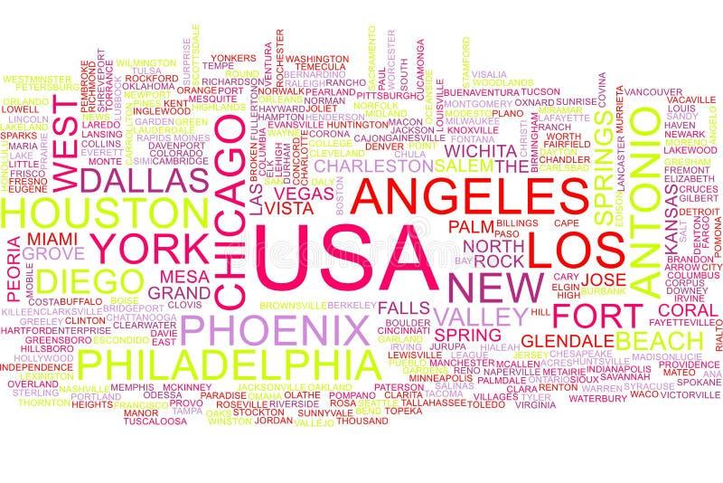 Nuvola di parola di U.S.A. illustrazione di stock