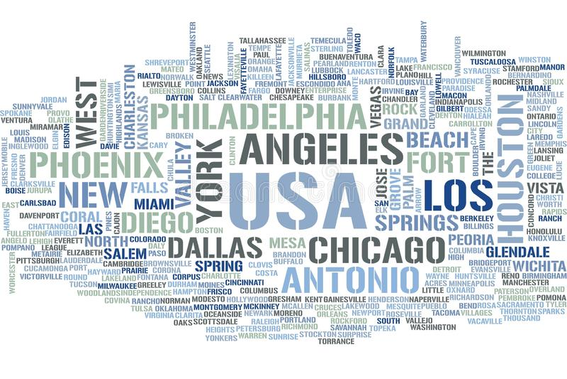 Nuvola di parola di U.S.A. royalty illustrazione gratis