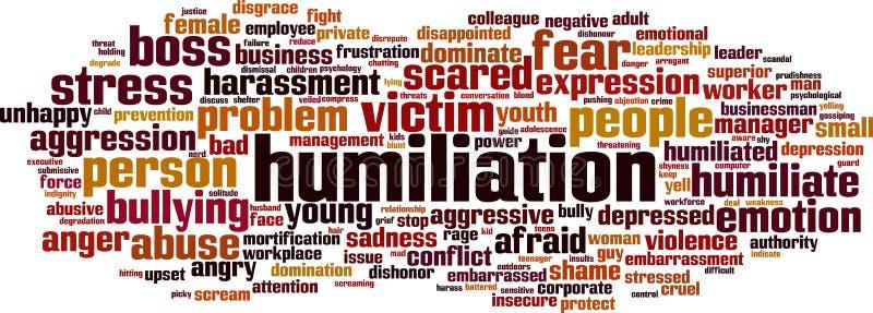 Nuvola di parola di umiliazione illustrazione vettoriale