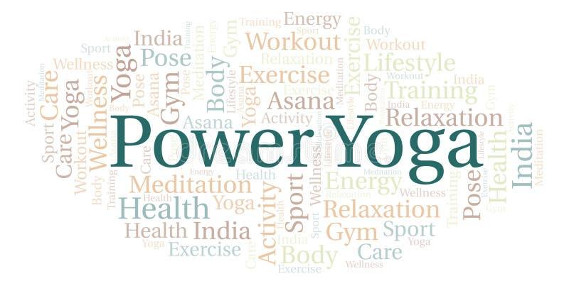 Nuvola di parola di yoga di potere royalty illustrazione gratis