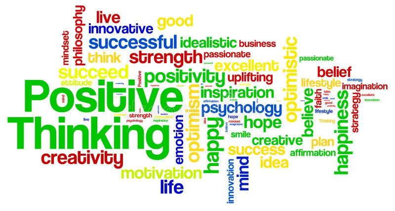 Nuvola di pensiero positiva di parola illustrazione vettoriale