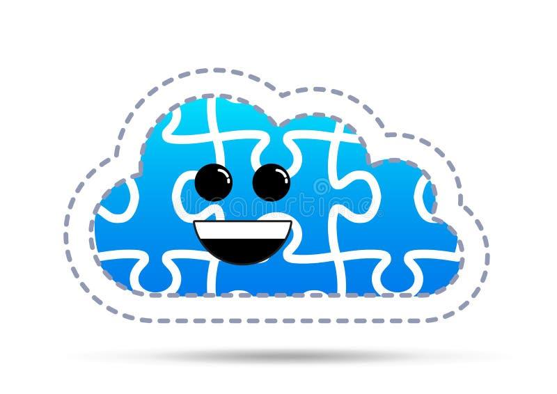 Nuvola di puzzle di divertimento illustrazione di stock