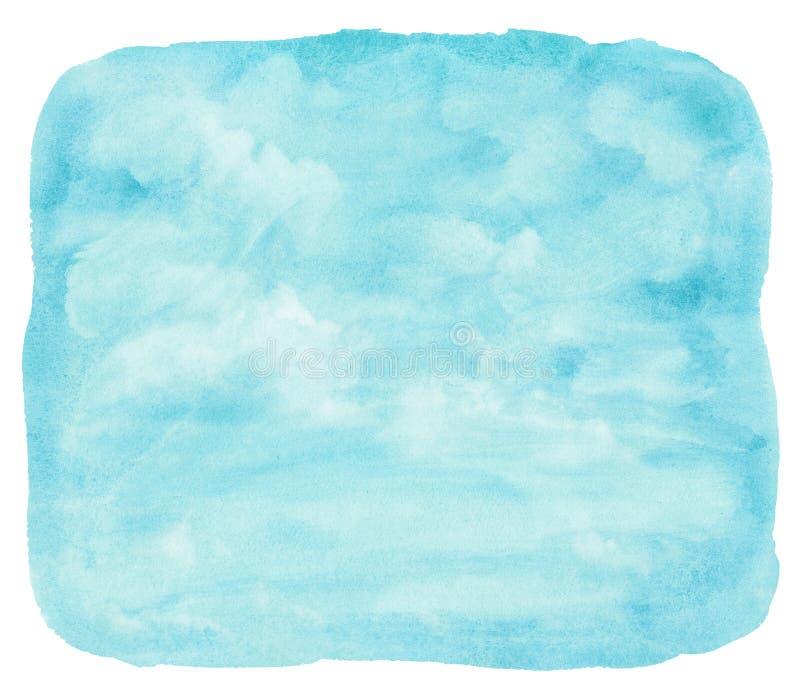 Nuvola e cielo blu dell'acquerello fotografia stock libera da diritti