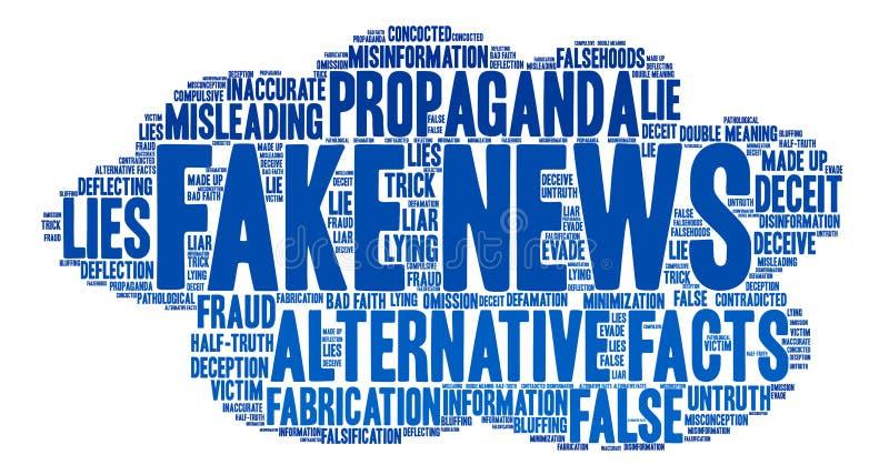Nuvola falsa di parola di notizie royalty illustrazione gratis