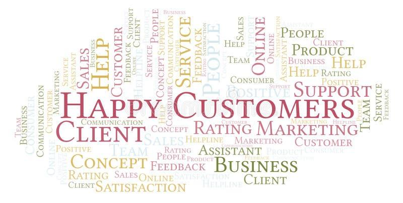 Nuvola felice di parola dei clienti royalty illustrazione gratis