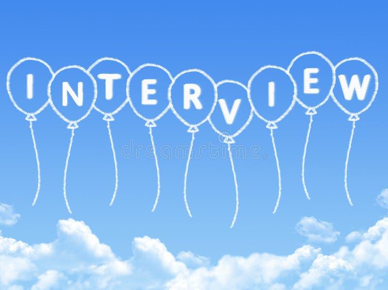 Nuvola a forma di come messaggio di intervista royalty illustrazione gratis