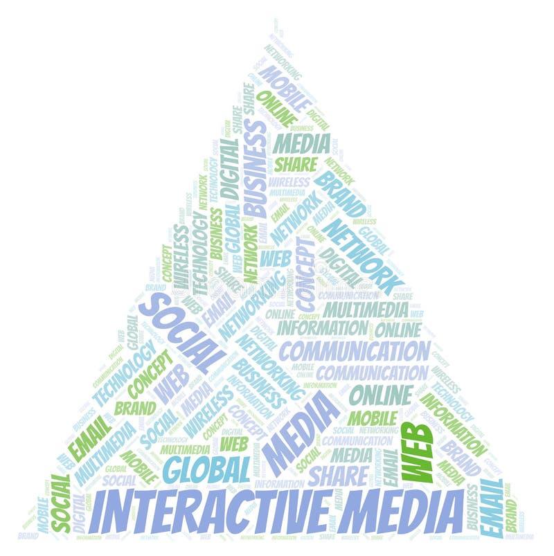 Nuvola interattiva di parola di media illustrazione di stock
