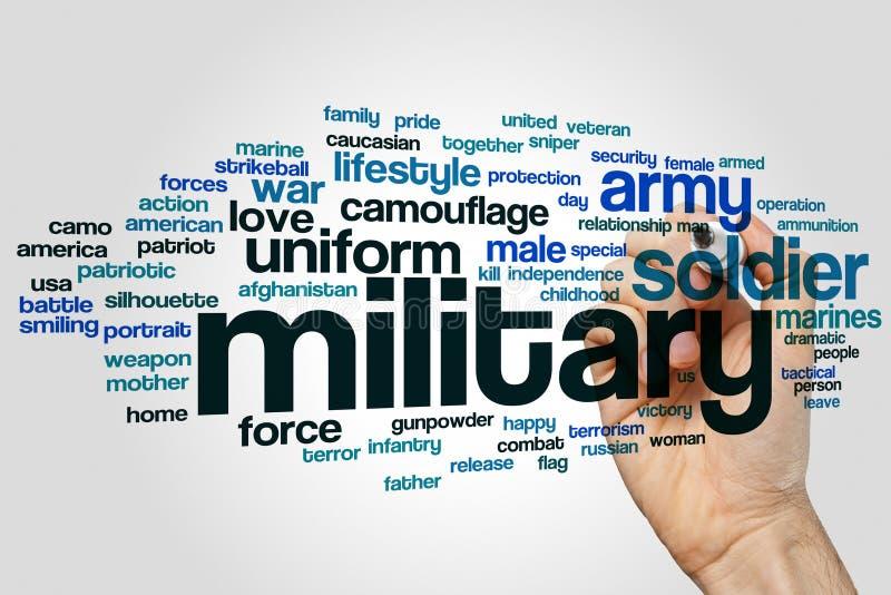 Nuvola militare di parola fotografia stock
