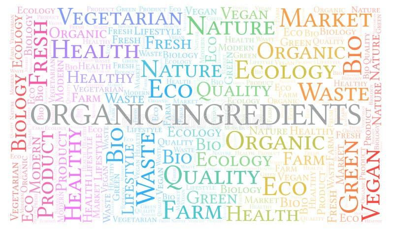 Nuvola organica di parola degli ingredienti royalty illustrazione gratis