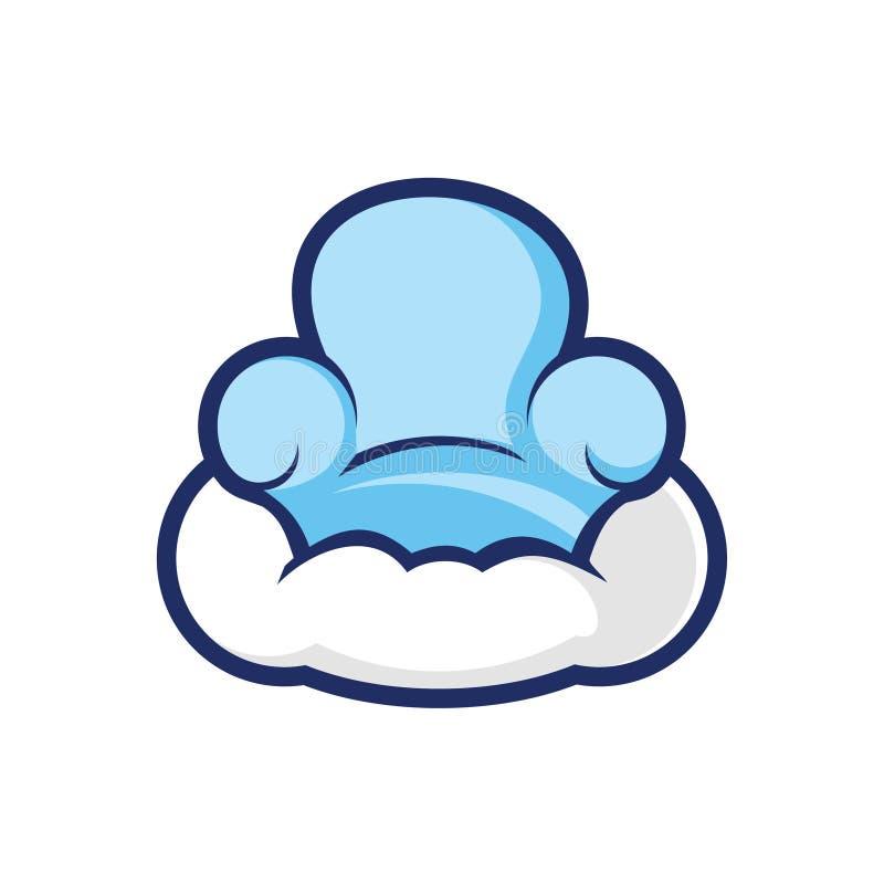 Nuvola riempita che pilota Seat - illustrazione fornire domestico royalty illustrazione gratis
