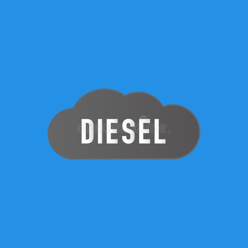 Nuvola scura di diesel nel cielo royalty illustrazione gratis
