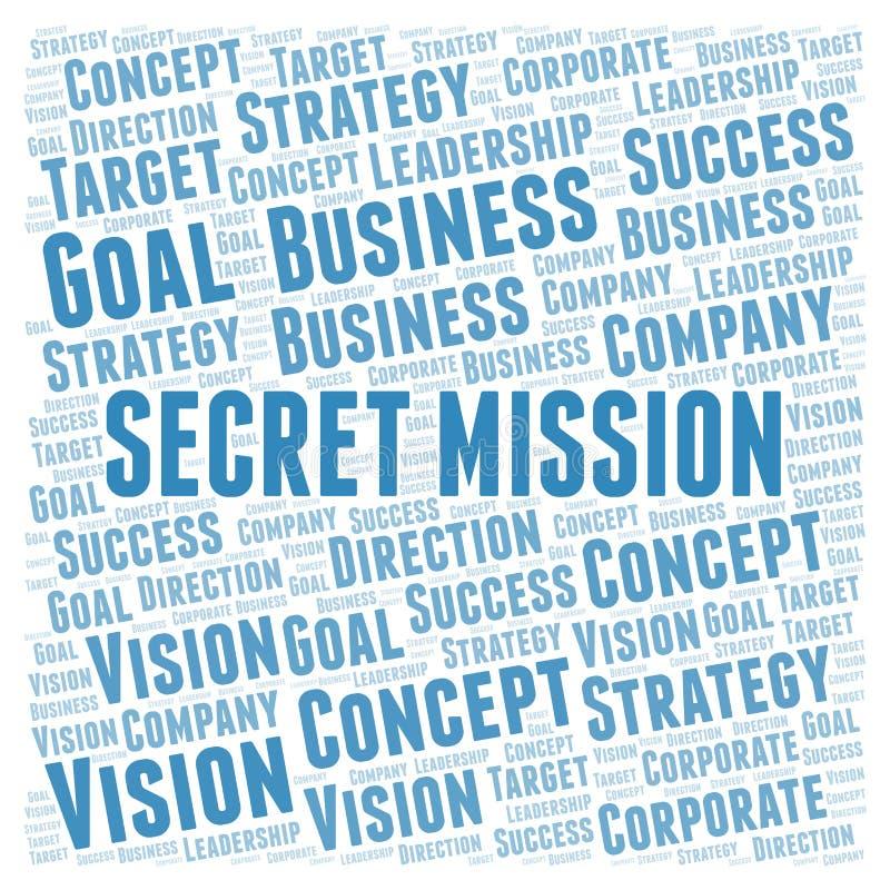 Nuvola segreta di parola di missione royalty illustrazione gratis