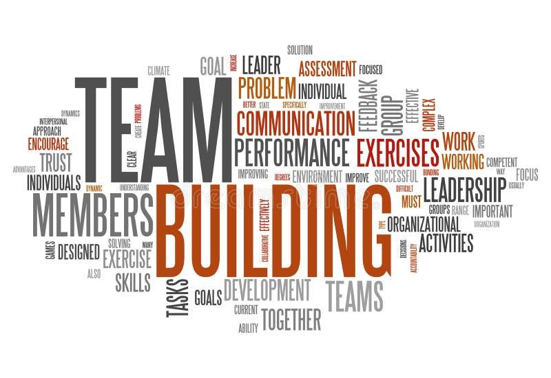 Nuvola Team Building di parola illustrazione vettoriale